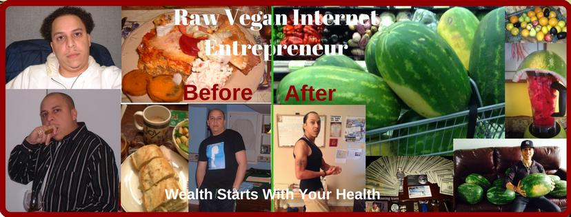Jeremiah Bonet The Raw Vegan Preneur collage