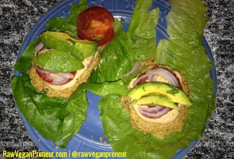 Raw vegan walnut veggie burger recipe raw vegan preneur forumfinder Images